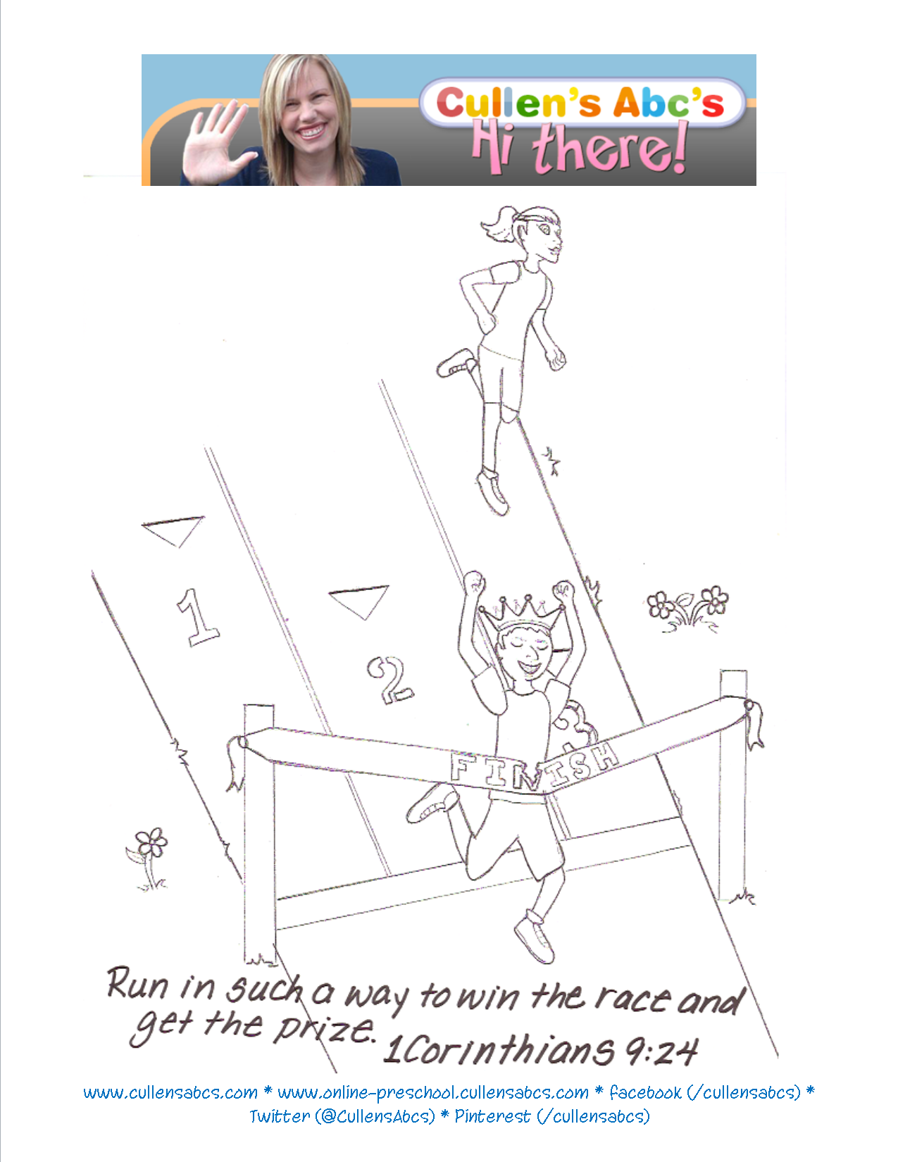 running the race coloring pages - photo#15