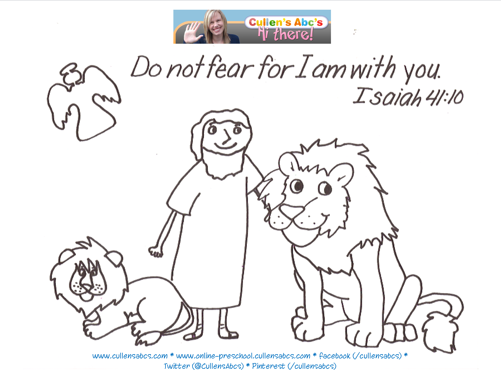 Daniel And The Lions Den Memory Verse Coloring Page