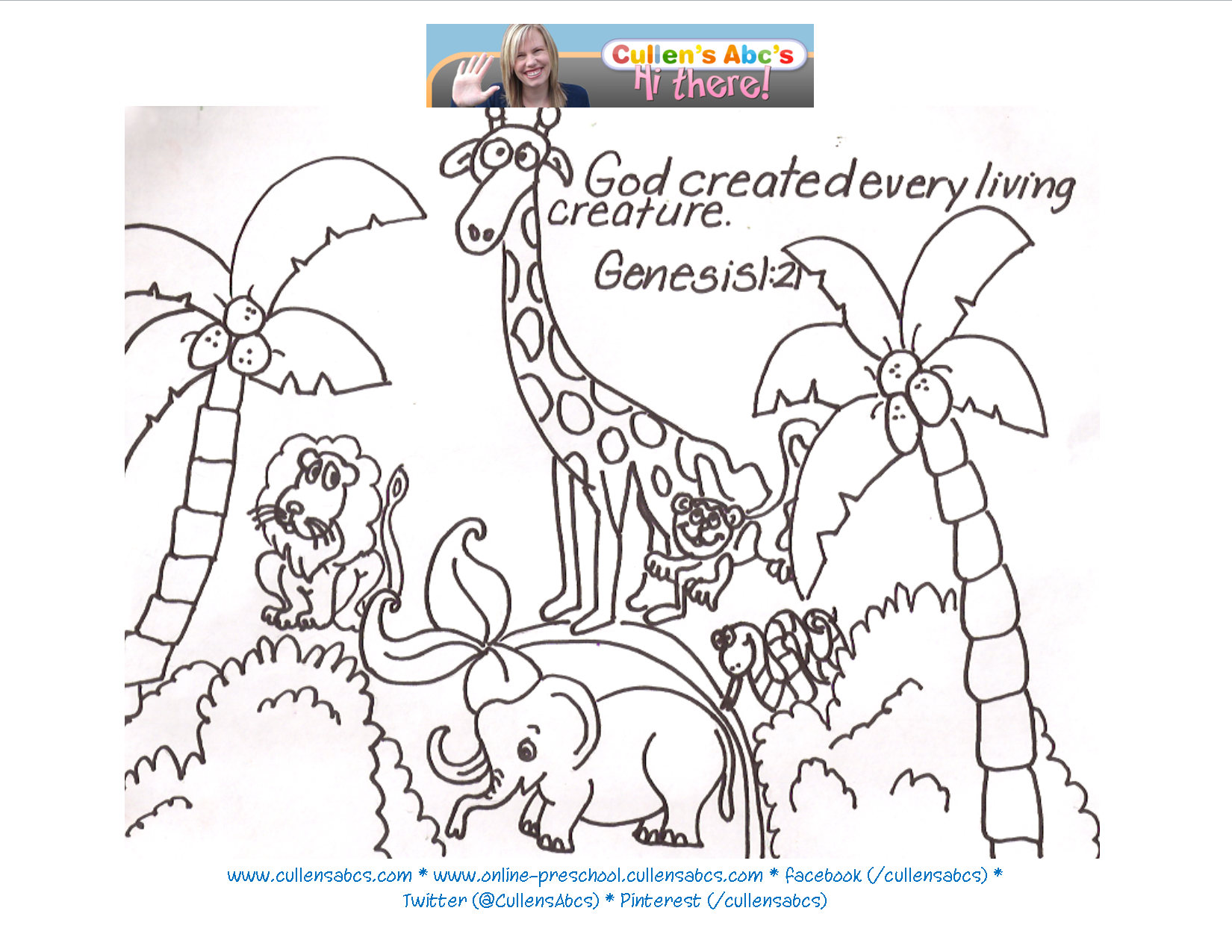 Day Of Creation Coloring Pages