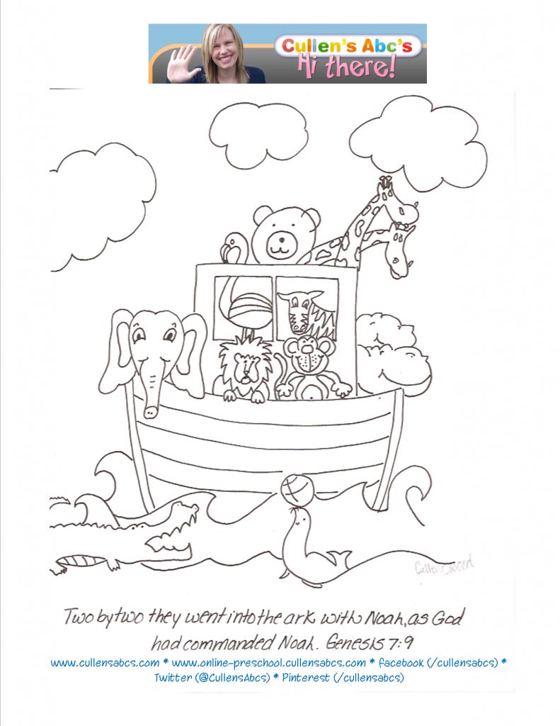 Zoo Ark Bible Memory Verse Coloring