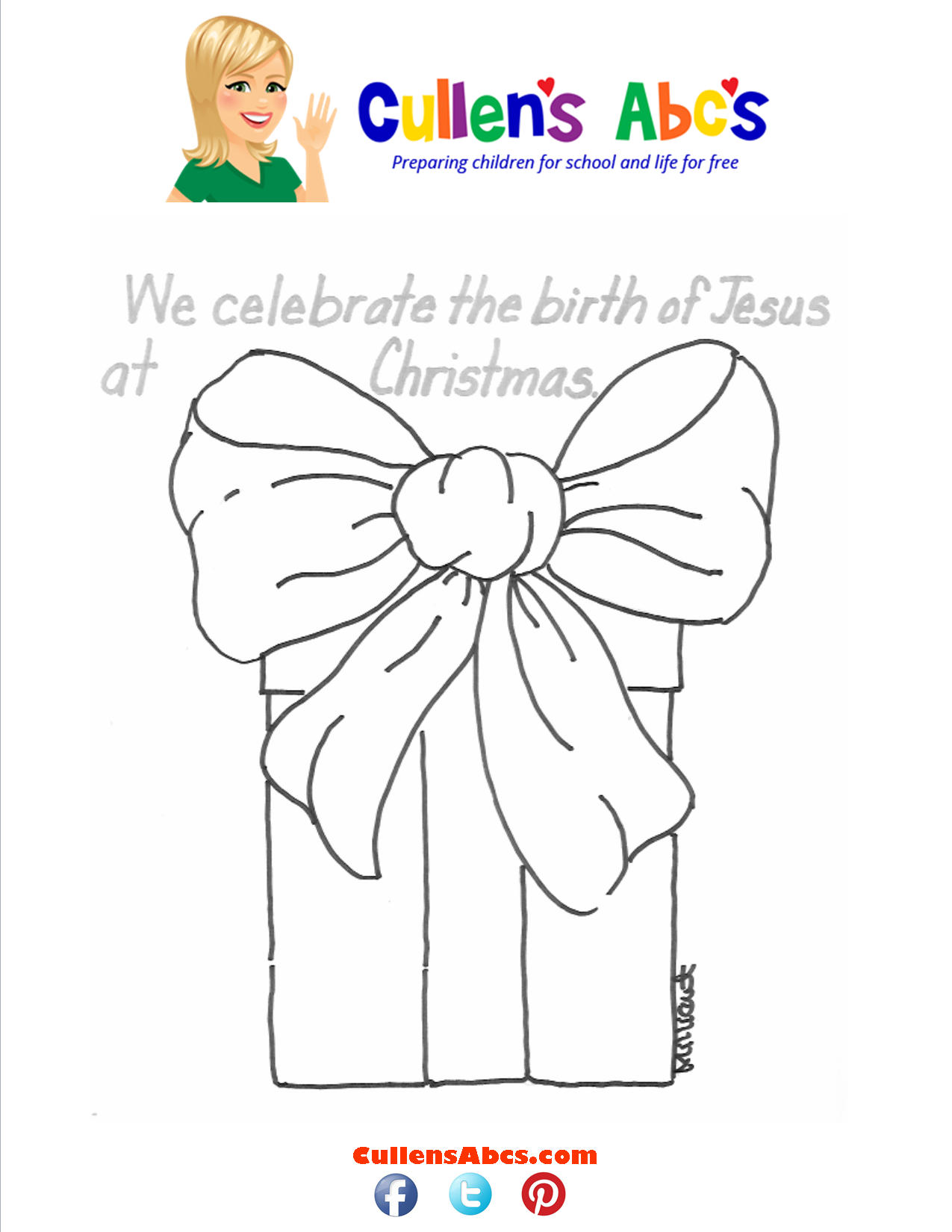 Bible Key Point Coloring Page  We Celebrate the birth of Jesus