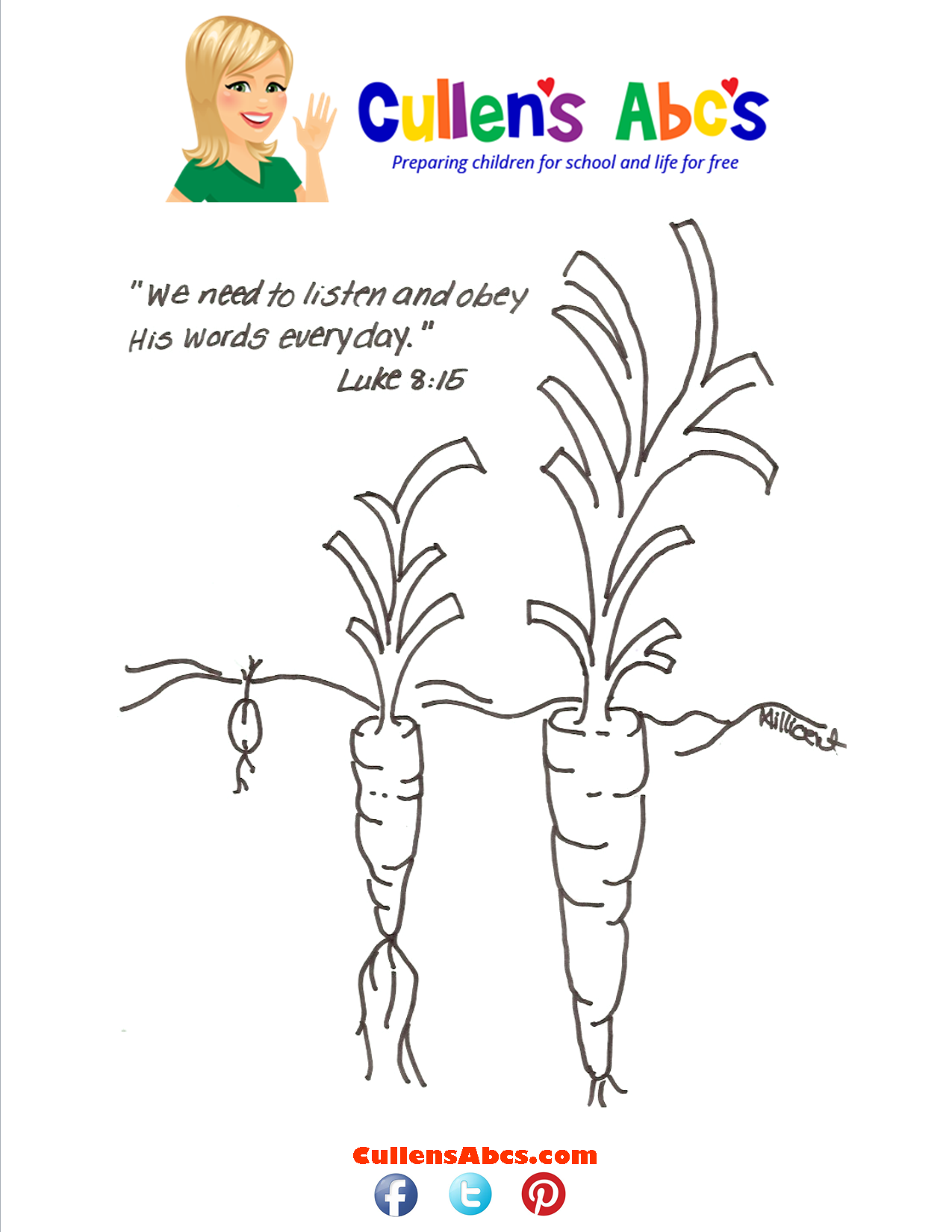 Bible Memory Verse Coloring Page Parable of the Sower