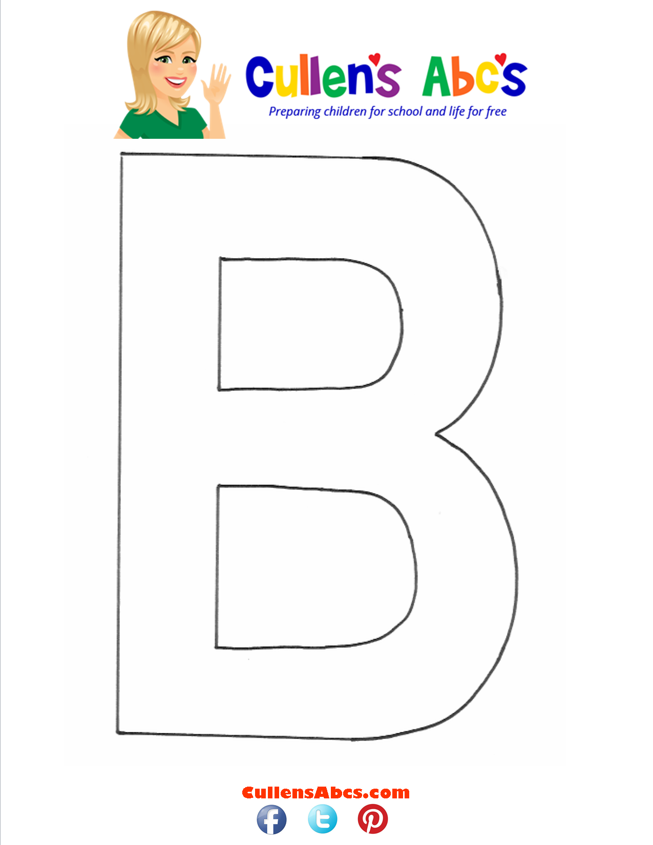Letter B Uppercase