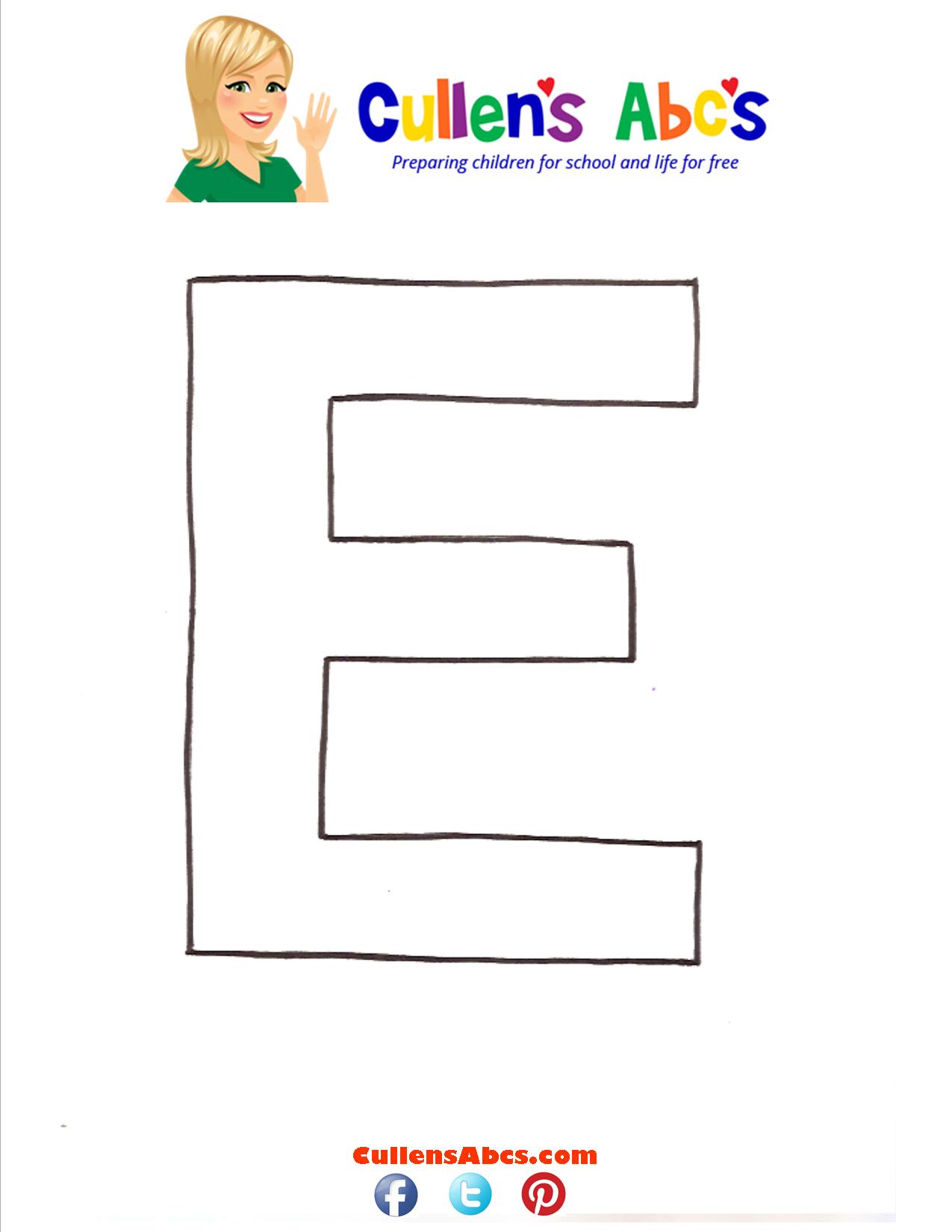 Letter E Uppercase