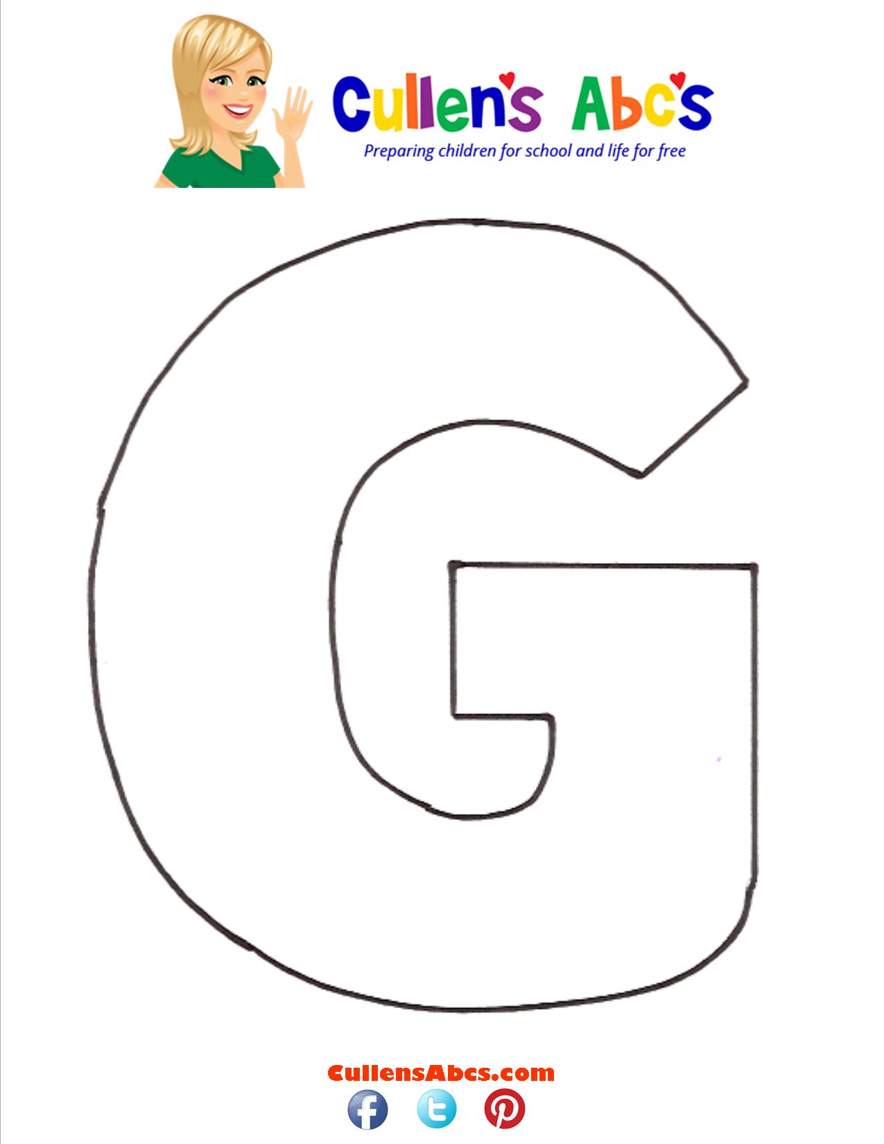 Letter G Uppercase