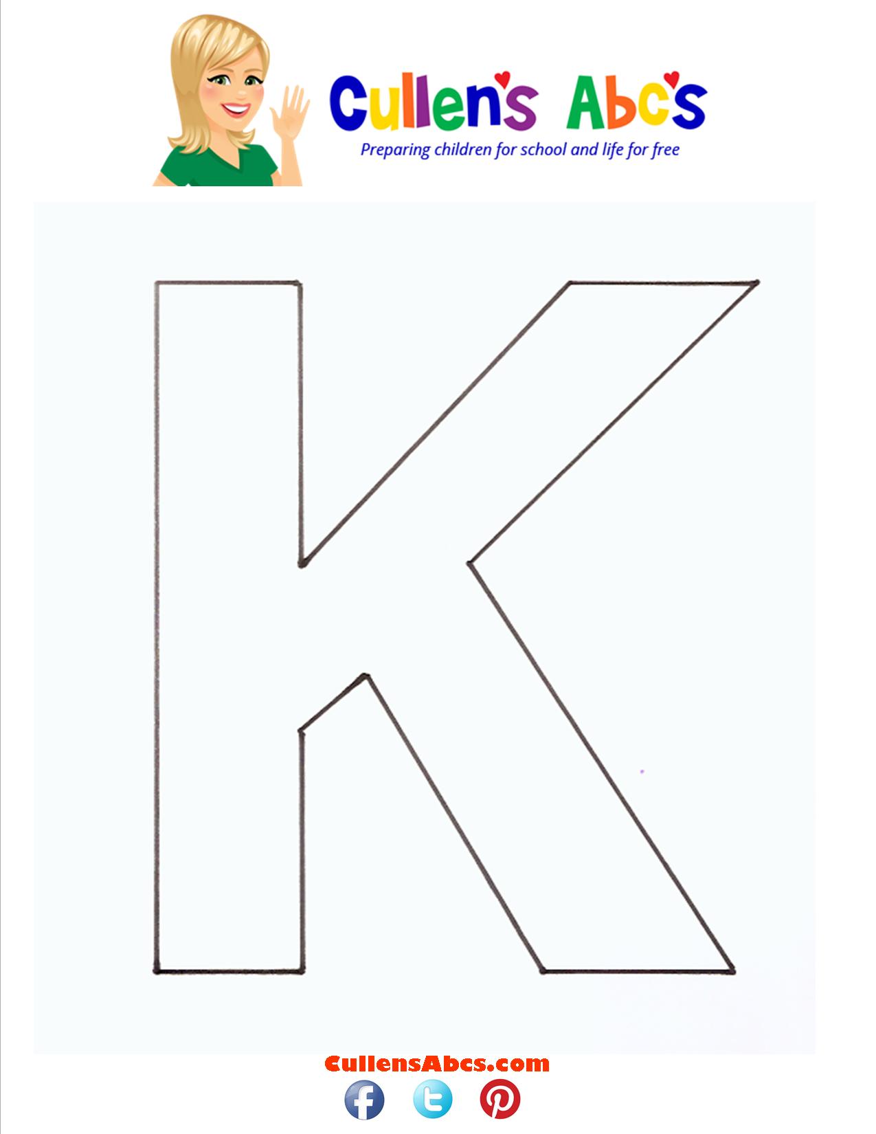 Letter K Uppercase