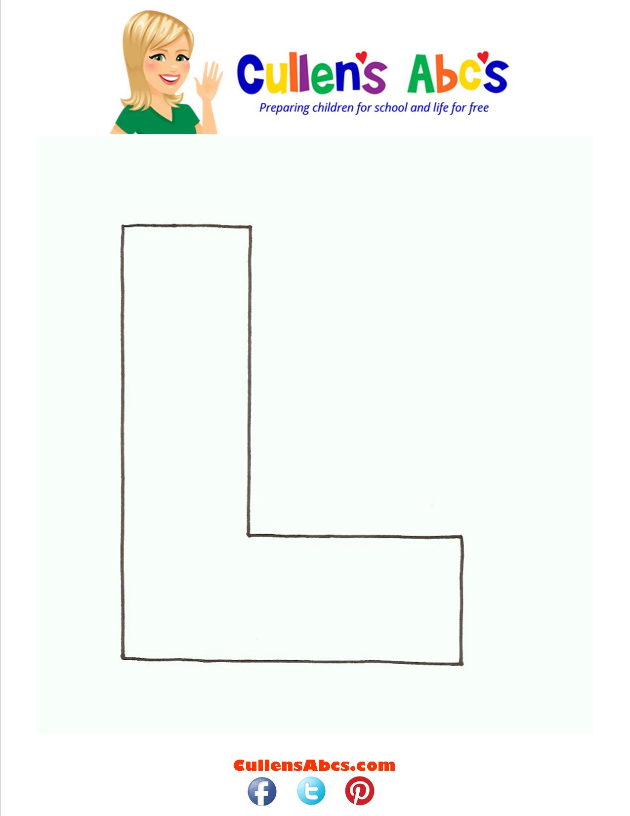 Letter L uppercase