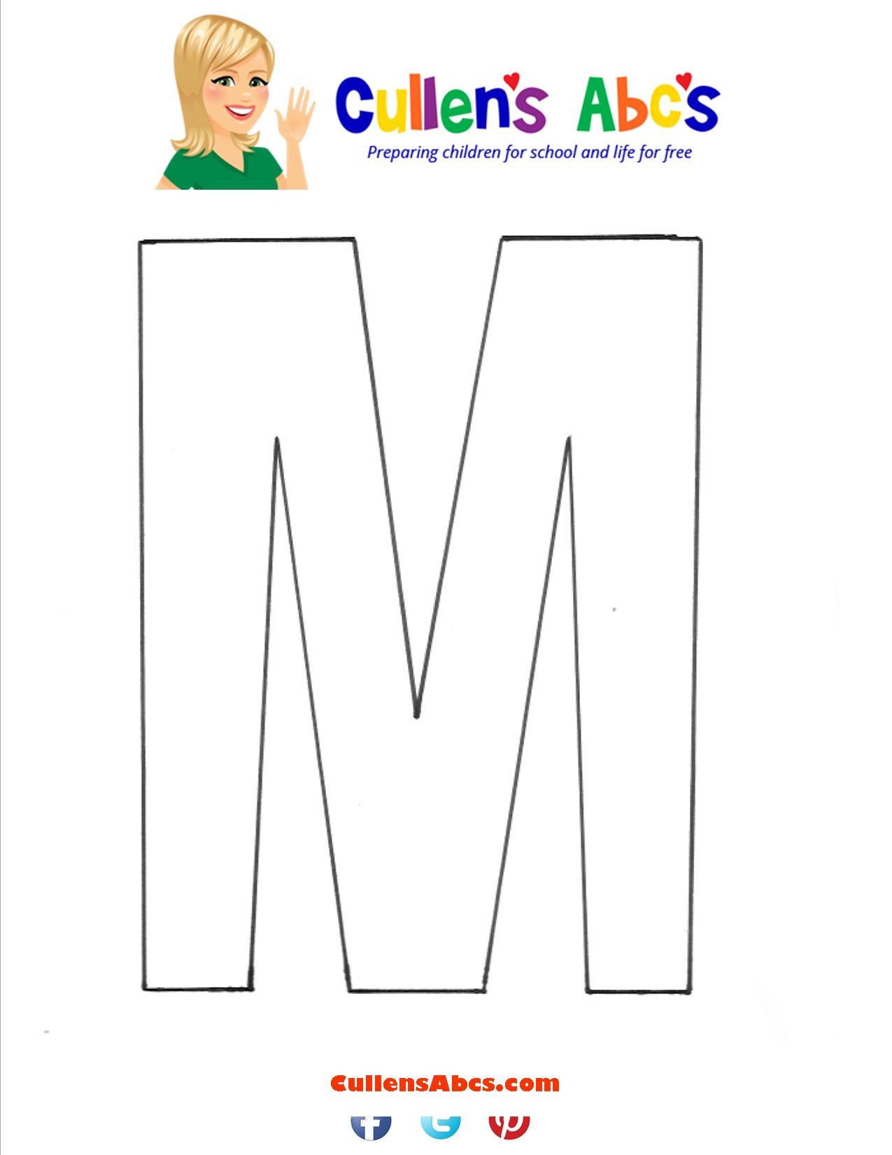 Letter M Uppercase