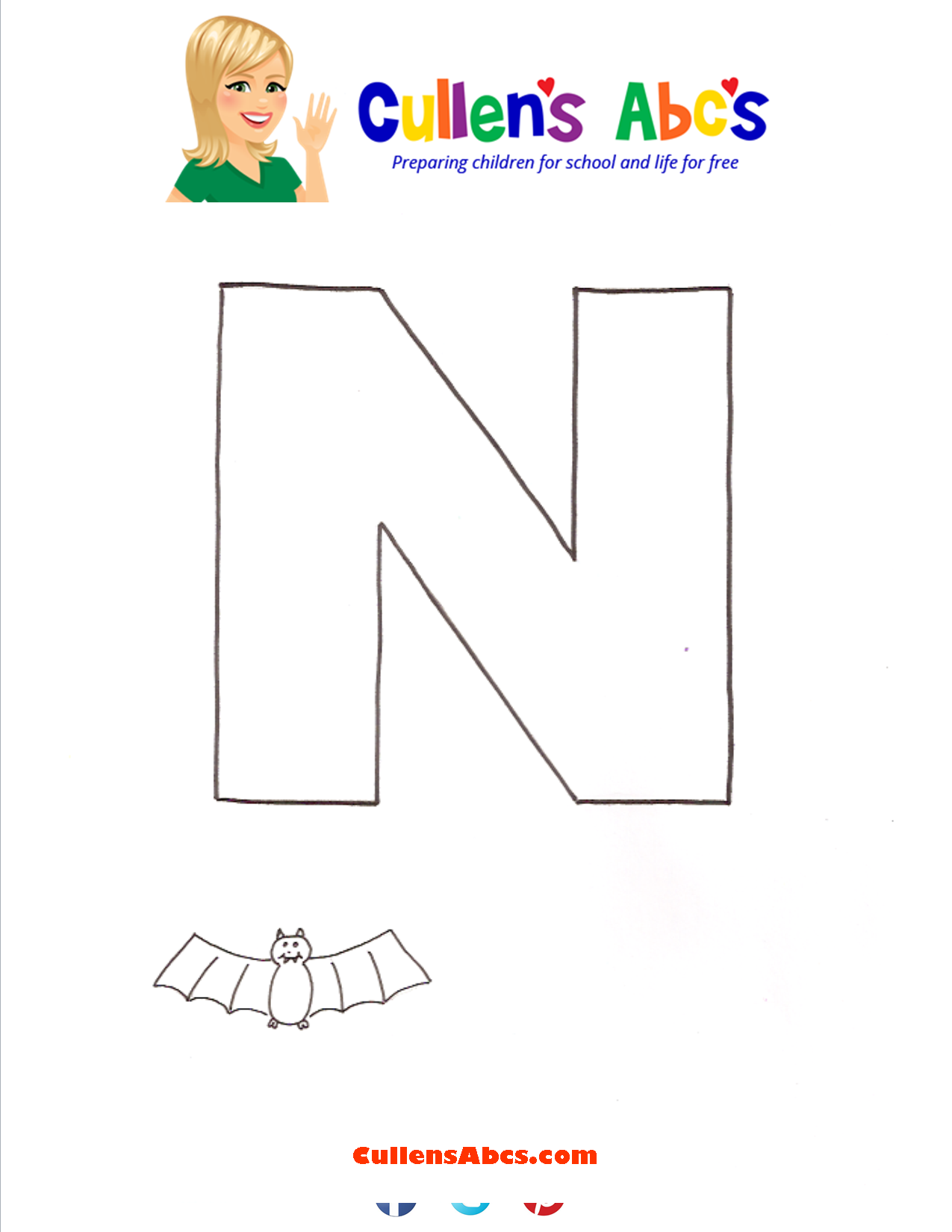 Letter N Uppercase