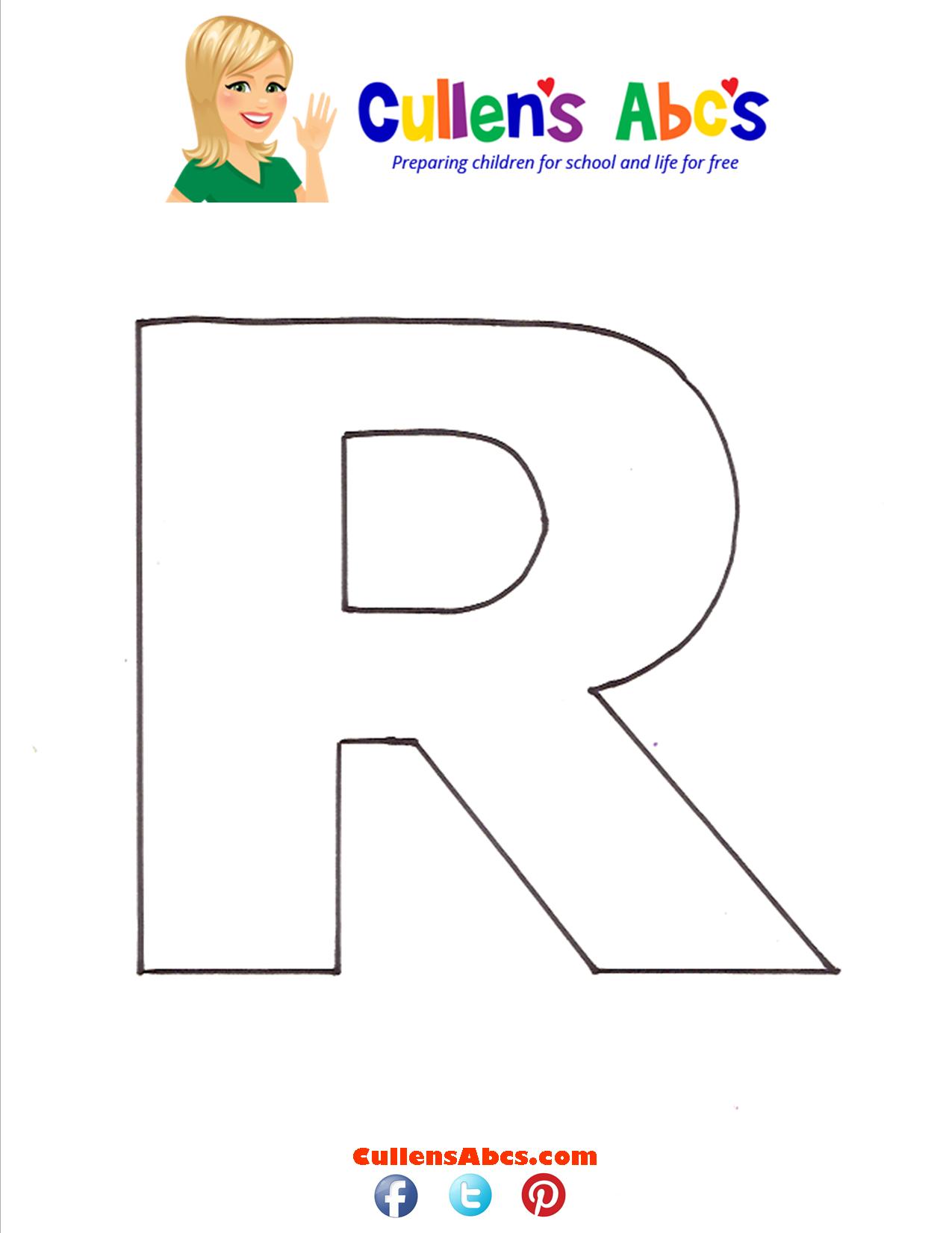 Letter R Uppercase
