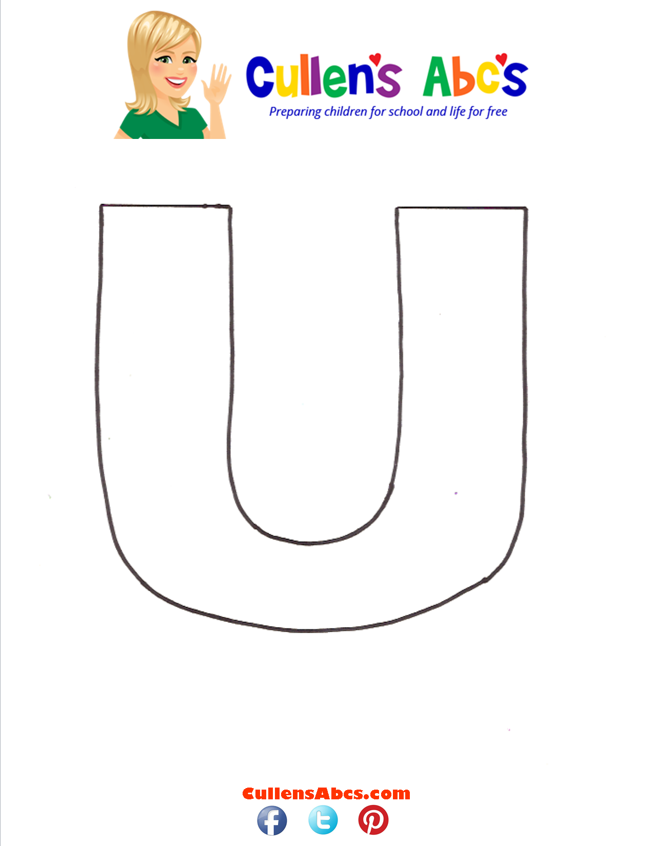 Letter U Uppercase