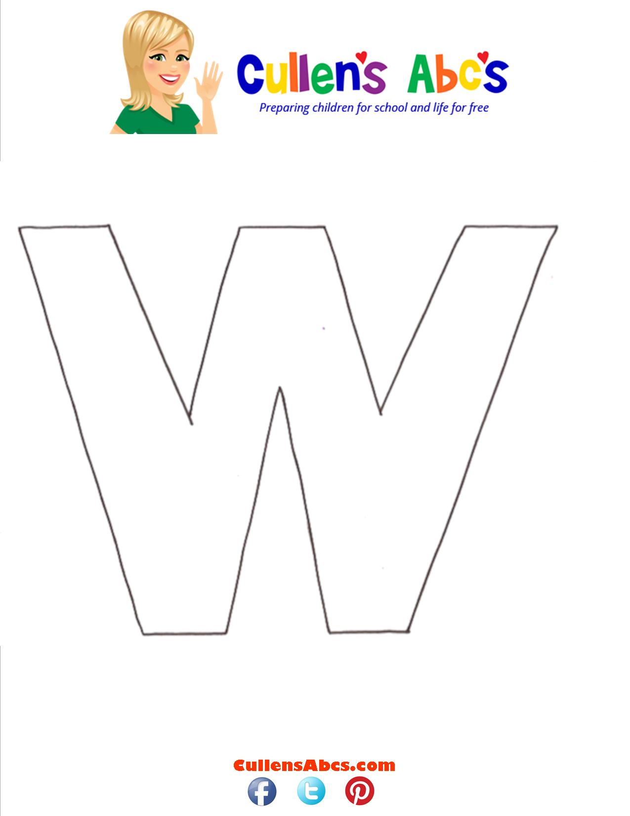 Letter W Uppercase