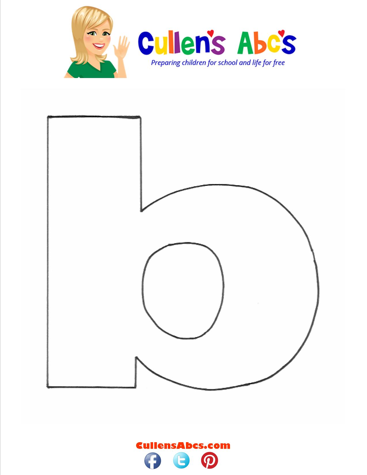 Letter b Lowercase