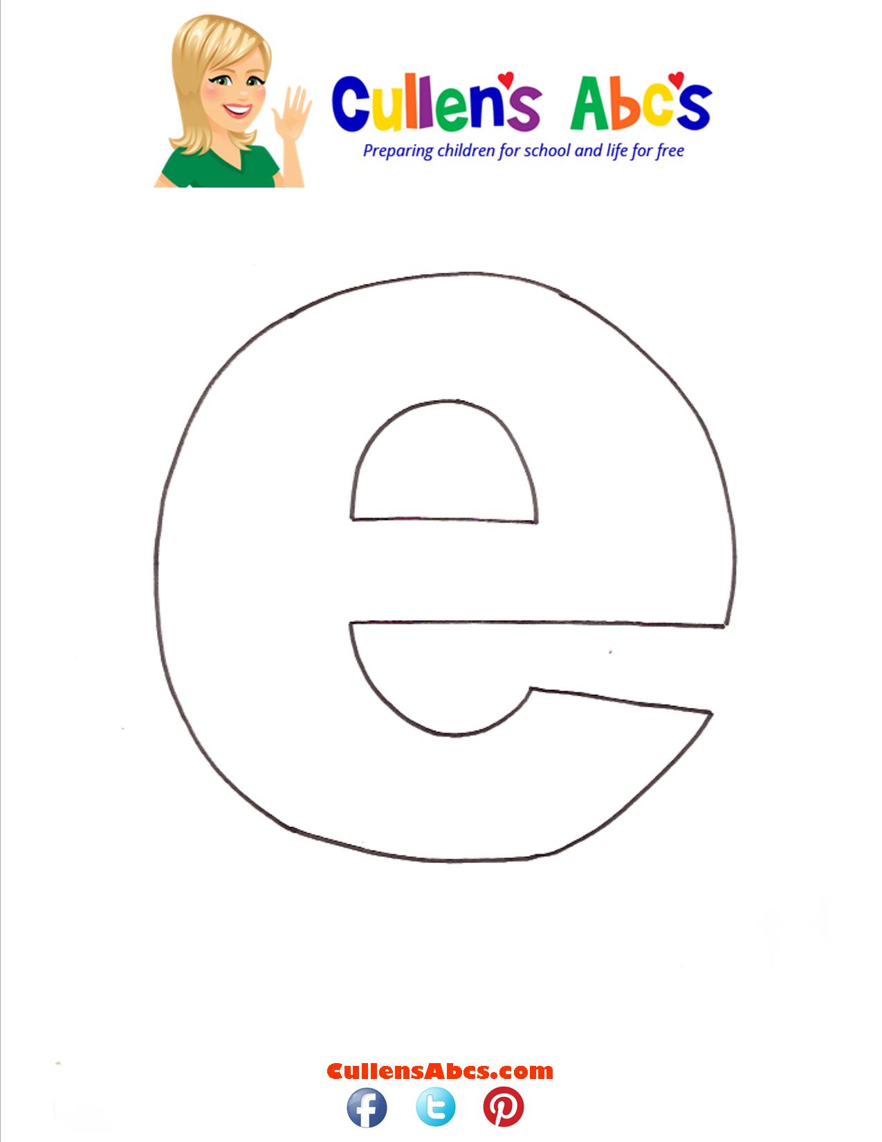 Letter e Lowercase