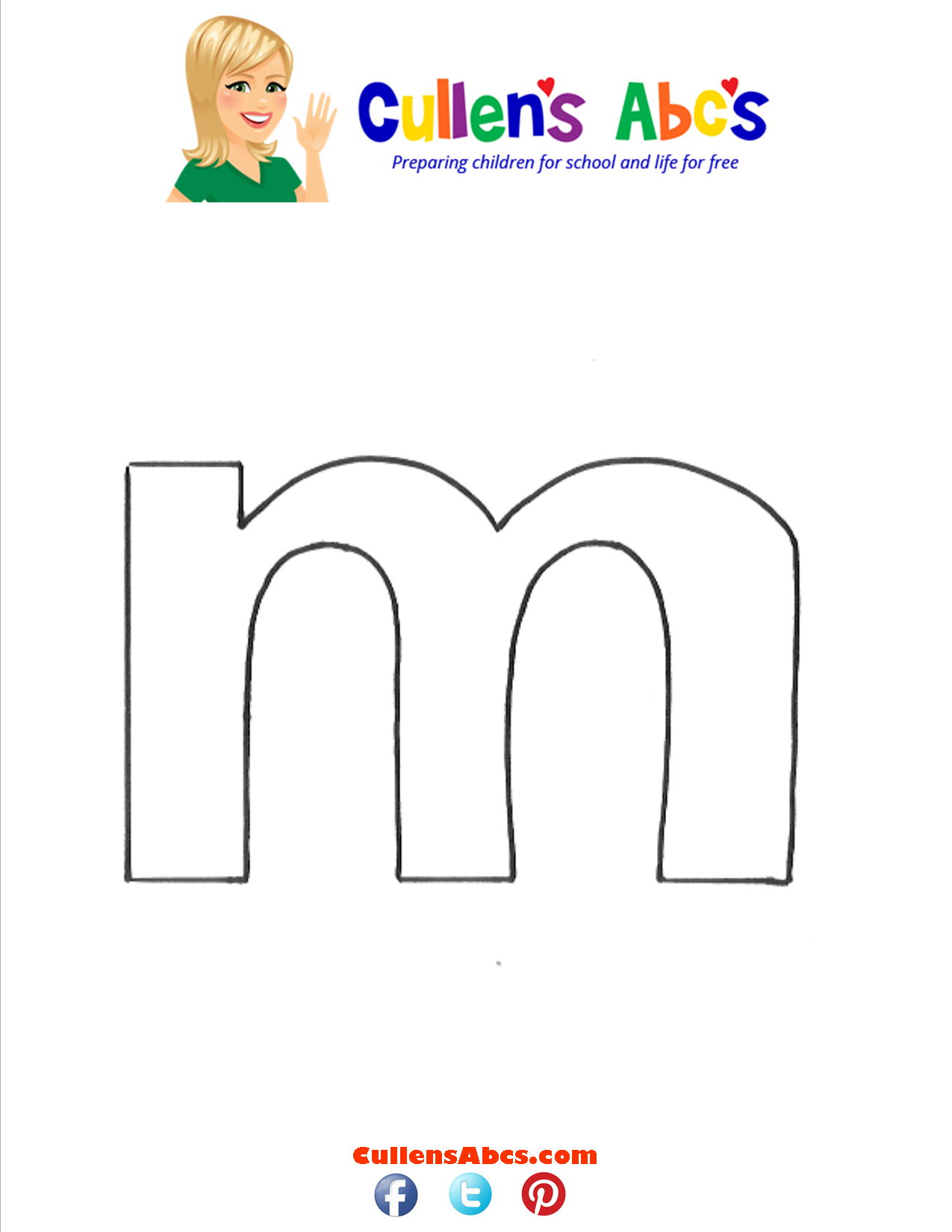 Letter m Lowercase