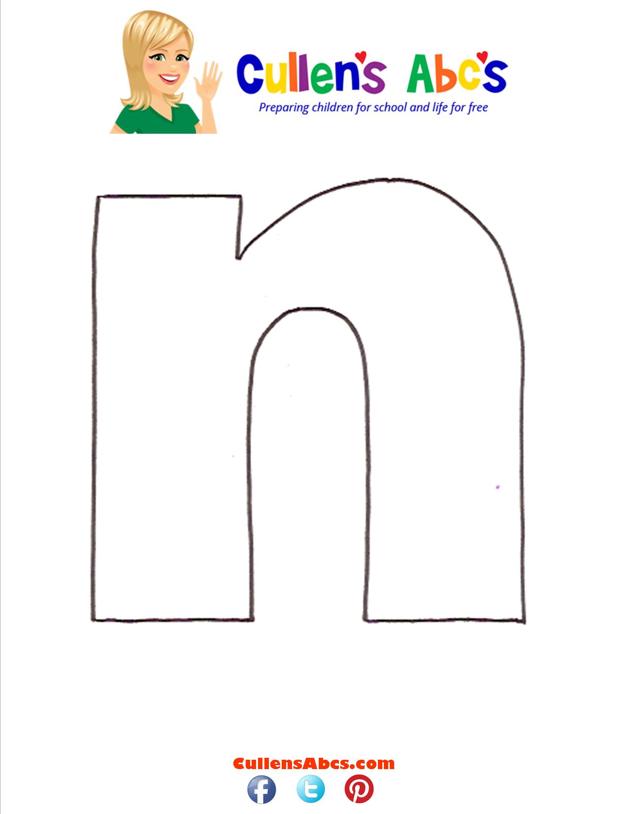 Letter n Lowercase