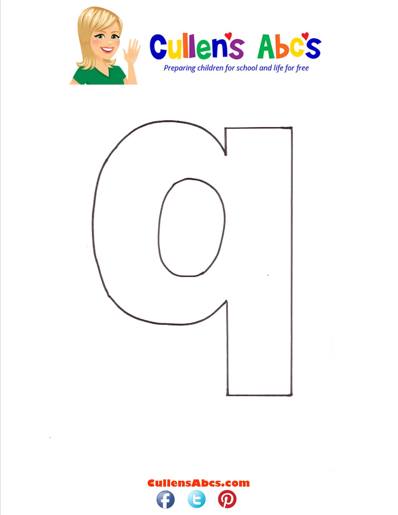Letter q Lowercase