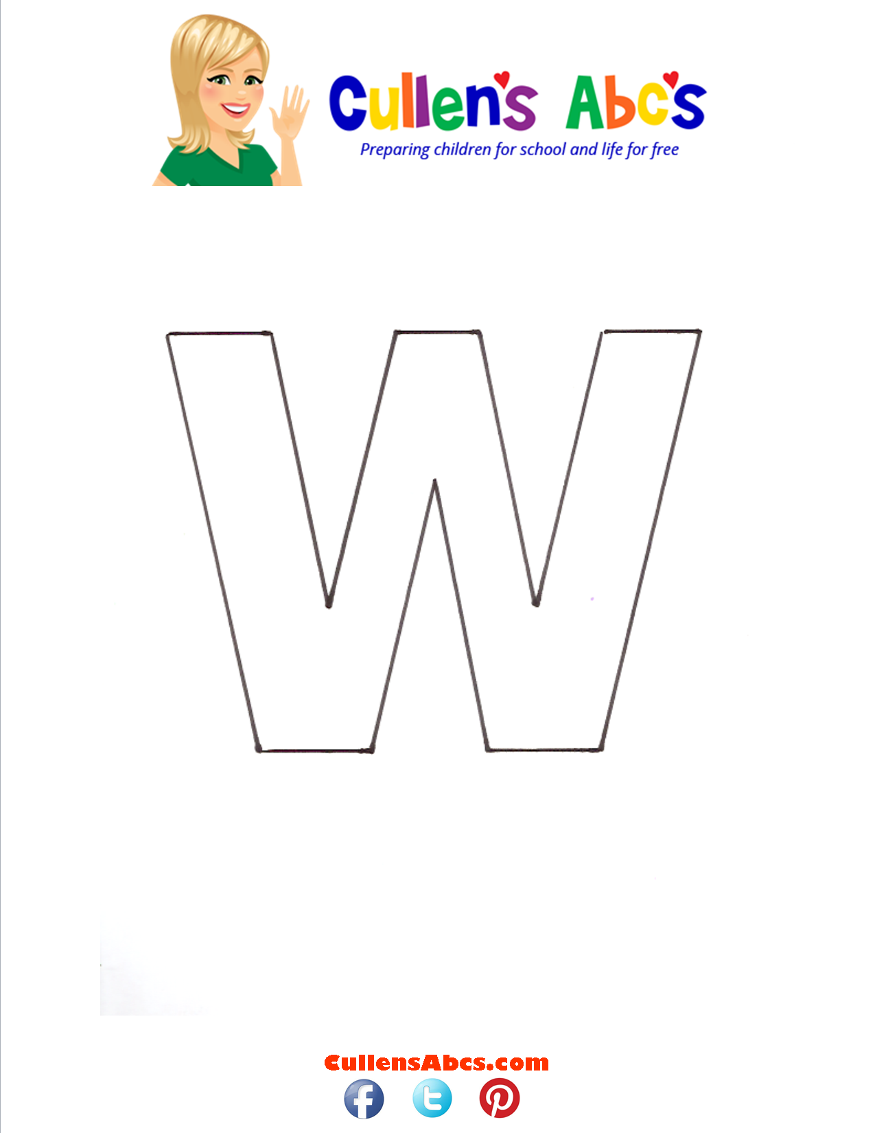 Letter w Lowercase