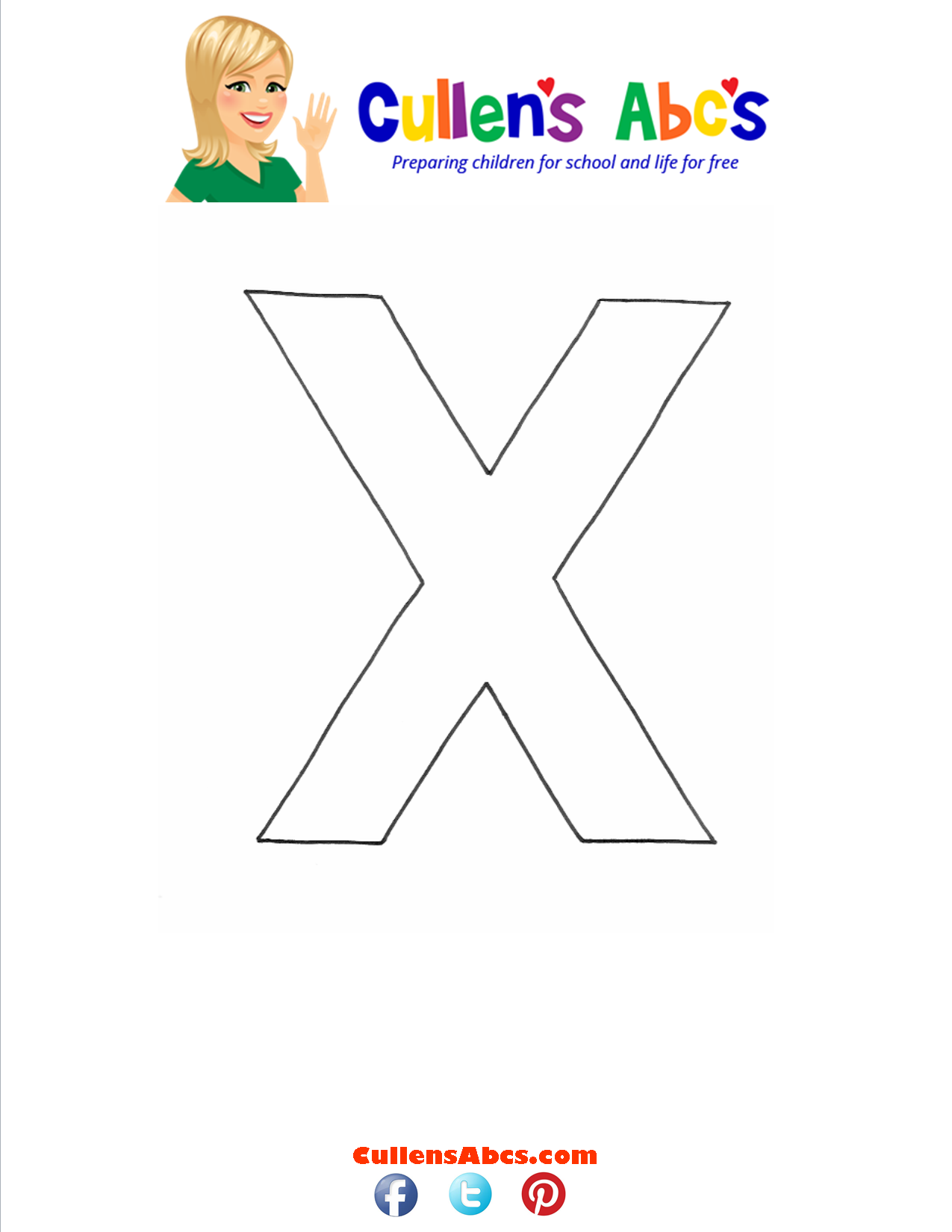 Letter x Lowercase