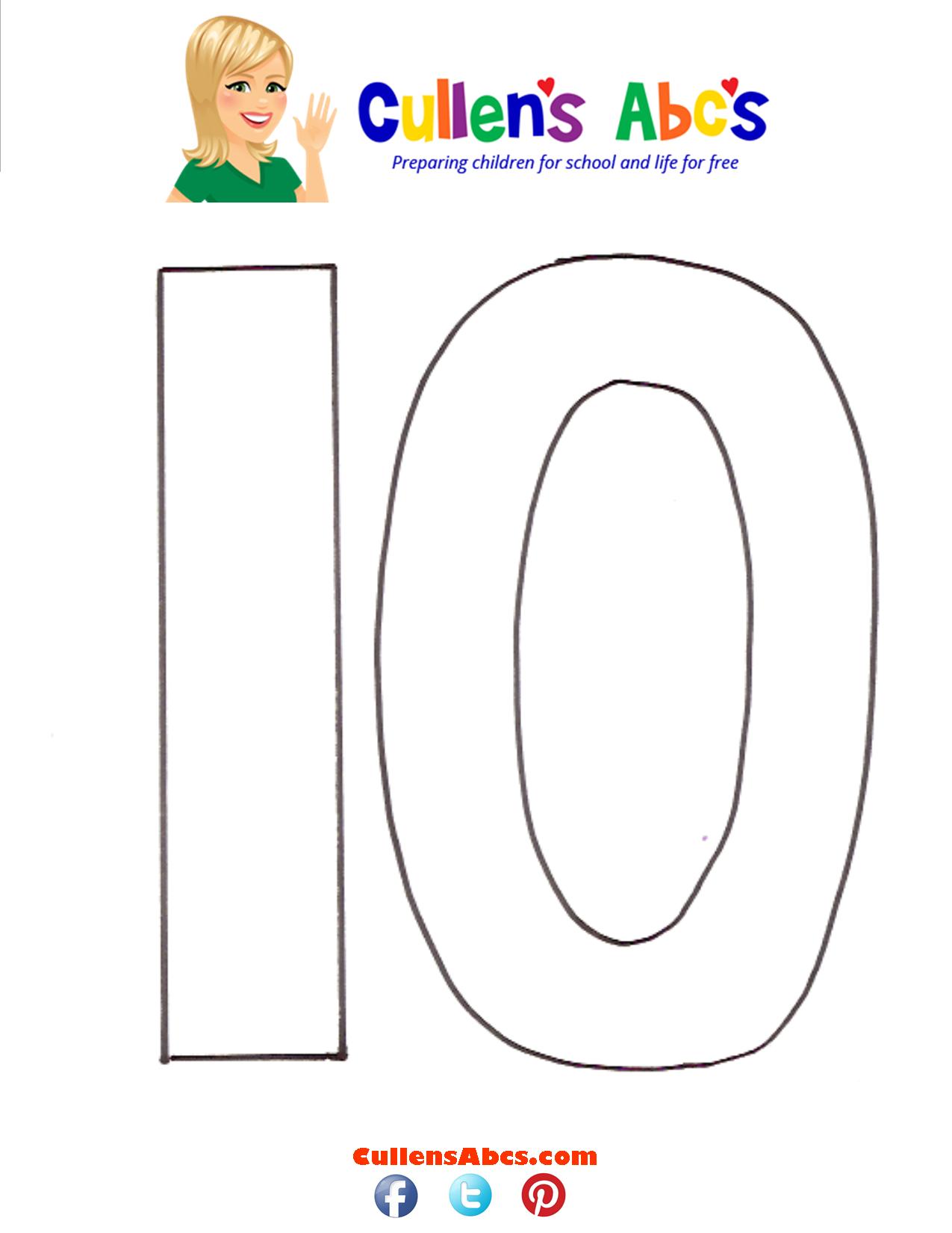 Number Ten (10) | Christian Children Activities | Online Preschool and ...