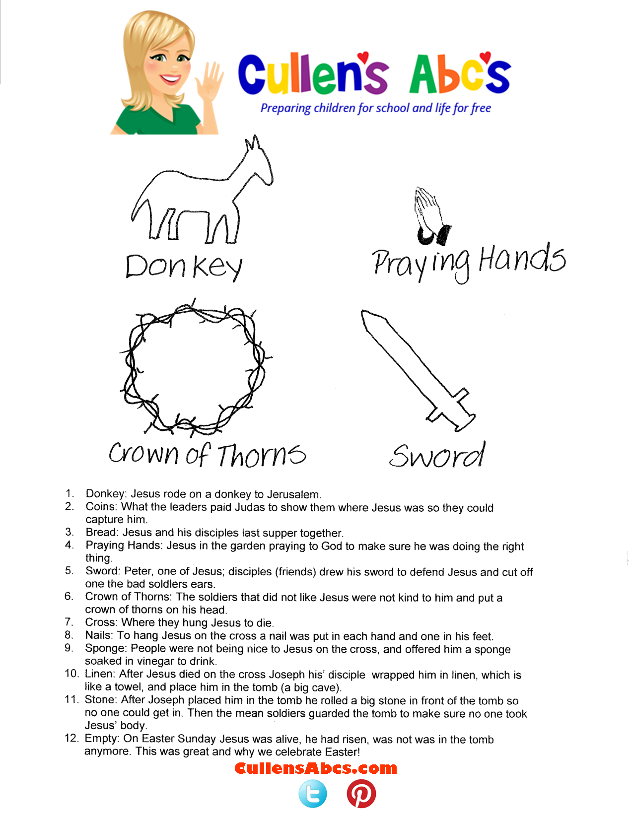 This is a photo of Handy Resurrection Egg Story Printable
