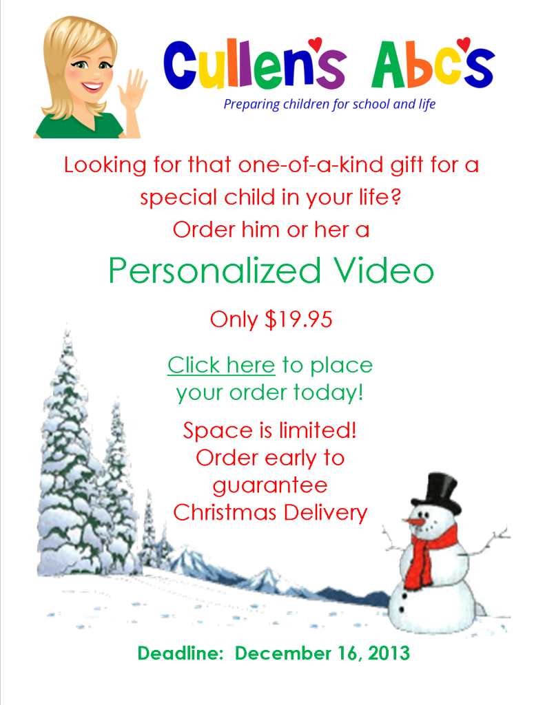 Personalized Video Flyer 2013