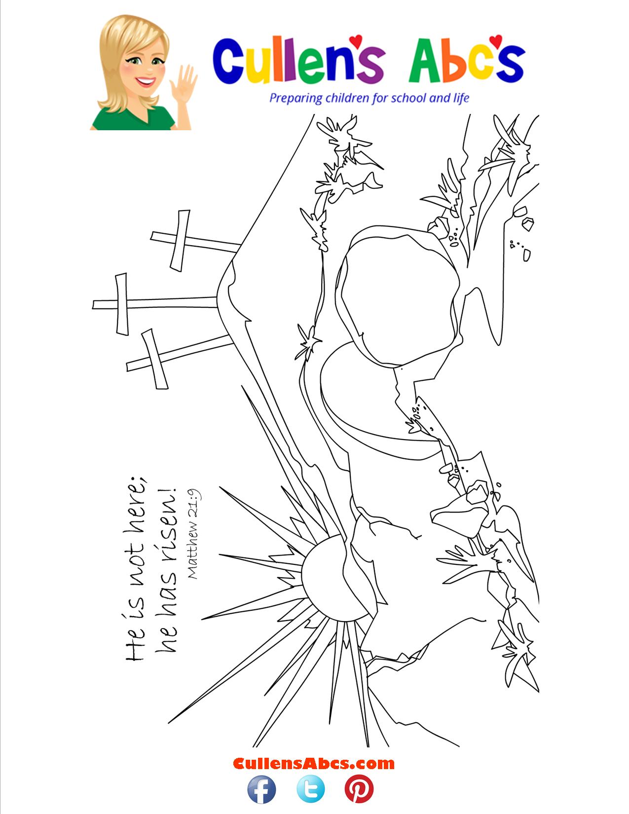 bible memory verse coloring page jesus is risen online
