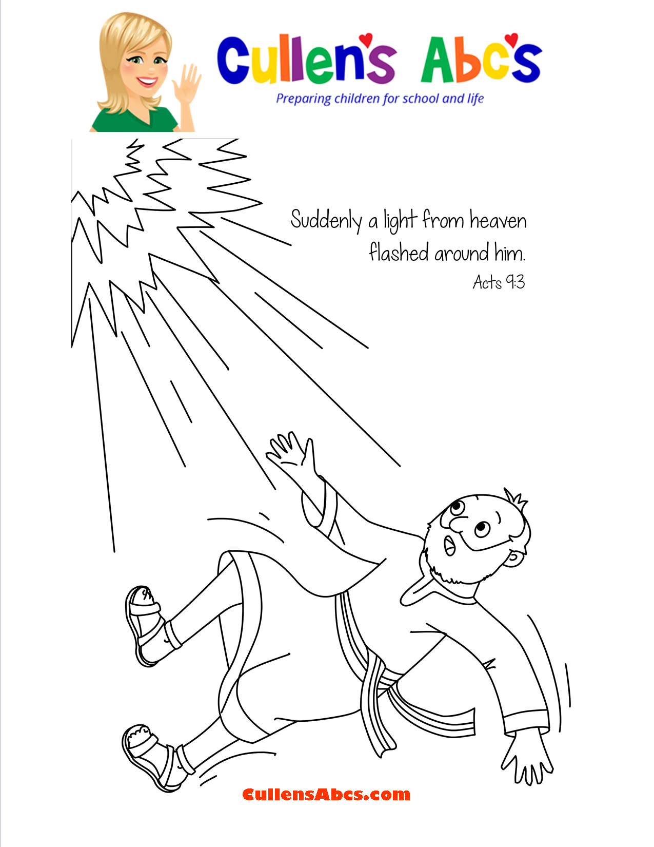 Bible Key Point Coloring Page A Changed Man