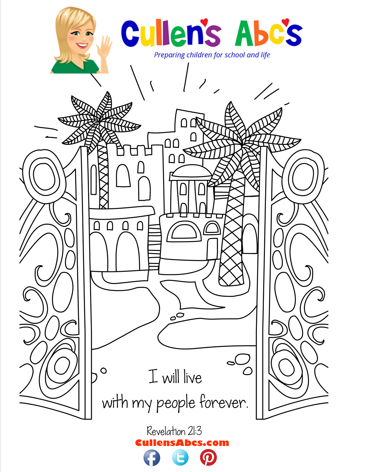 Bible Key Point Coloring Page-Jesus is Coming