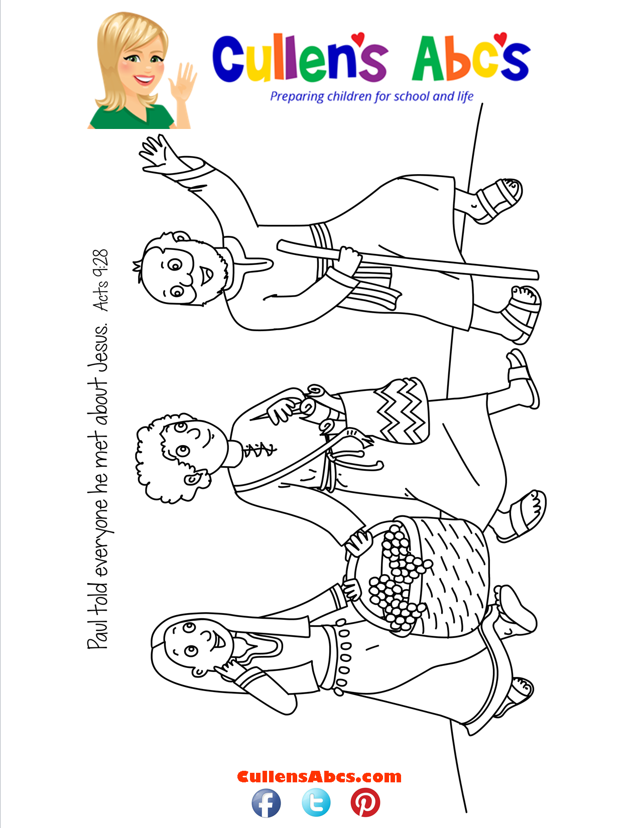Bible Key Point Coloring Page-Paul's Journey