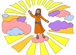 Jesus Goes to Heaven Color
