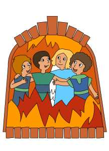 Shadrach, Meshach and Abednego Color