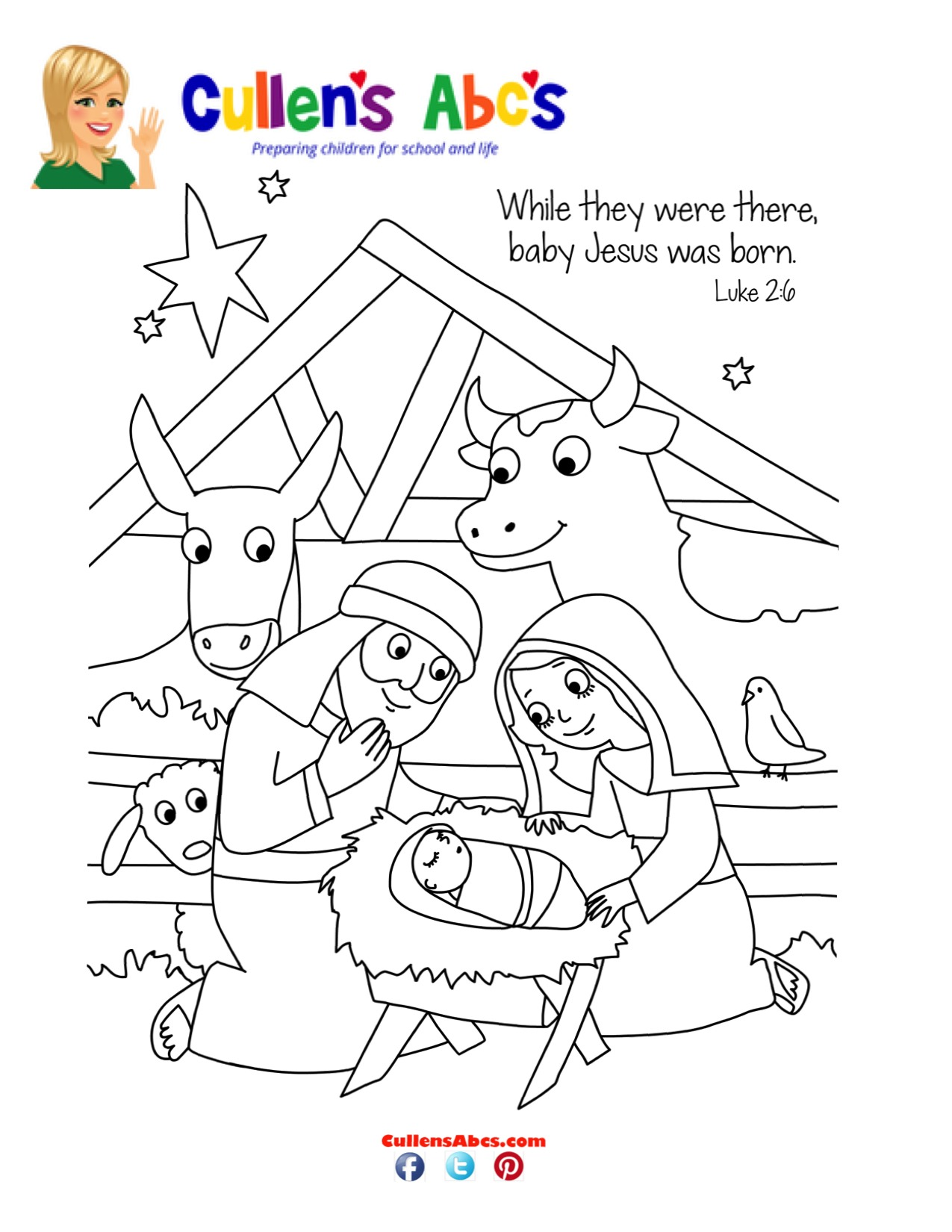 Bible Key Point Coloring Page | He's Here