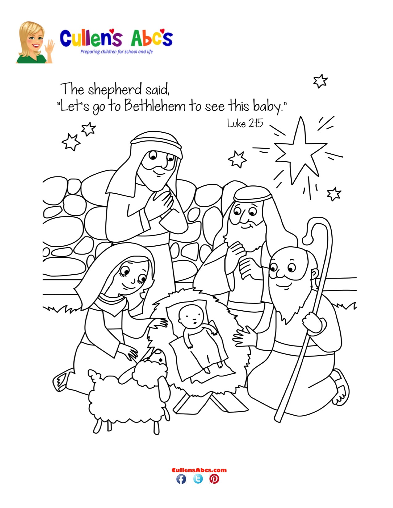 Bible-Key-Point-Coloring-Page-The-Shepherds-Visit