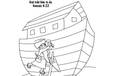 Bible Key Point Coloring Page Noah Builds The Ark 230x155jpeg
