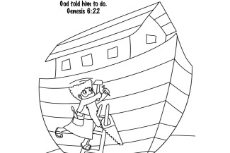Bible Key Point Coloring Page Noah Builds The Ark 325x217jpeg