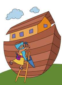 Noah Builds Ark Color