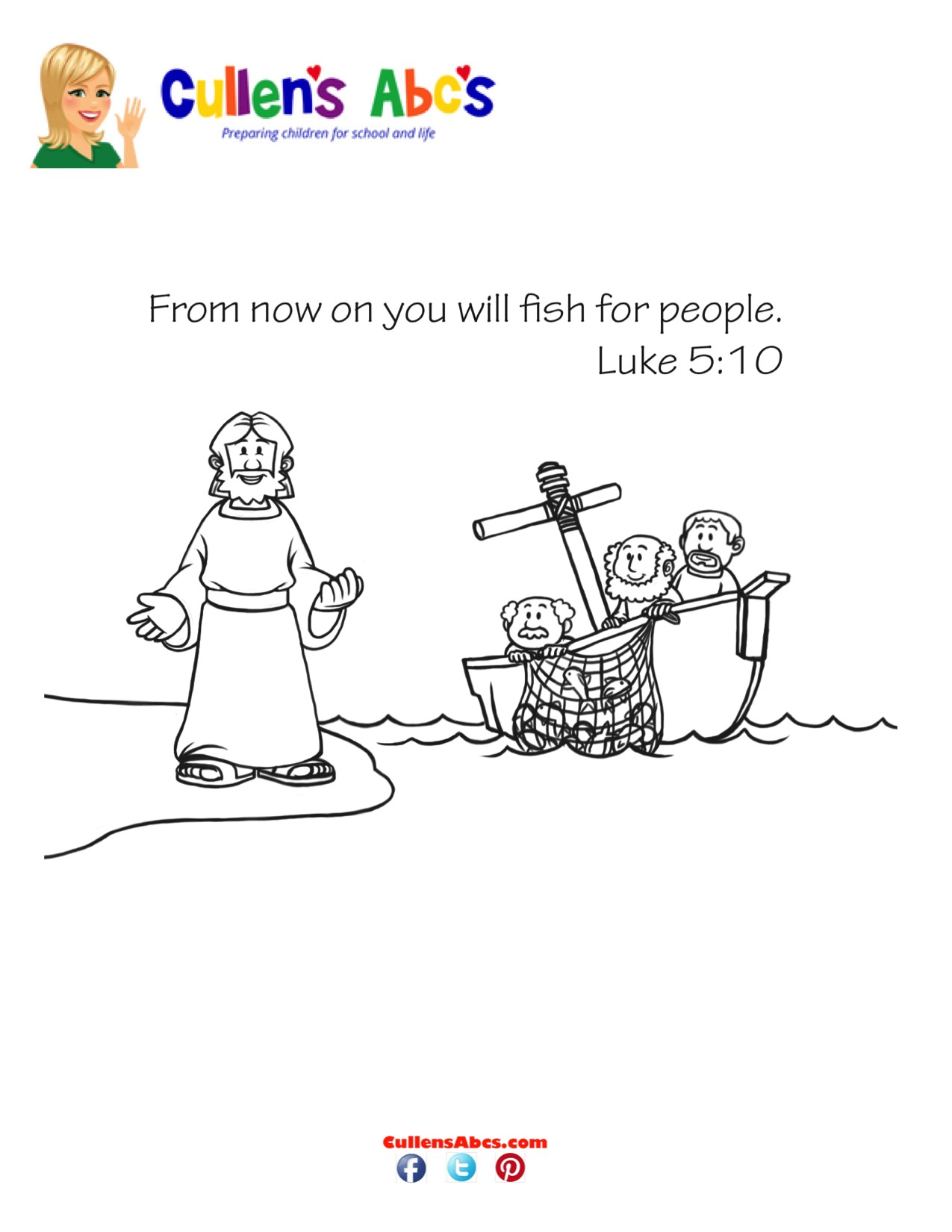Bible Key Point Coloring Page Jesus Chooses His