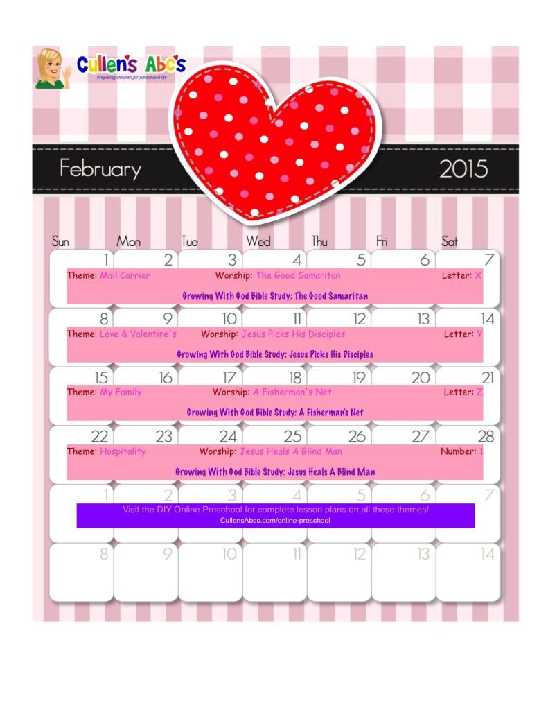 Calendar Ideas For Nursery : Preschool calendars christian children activities