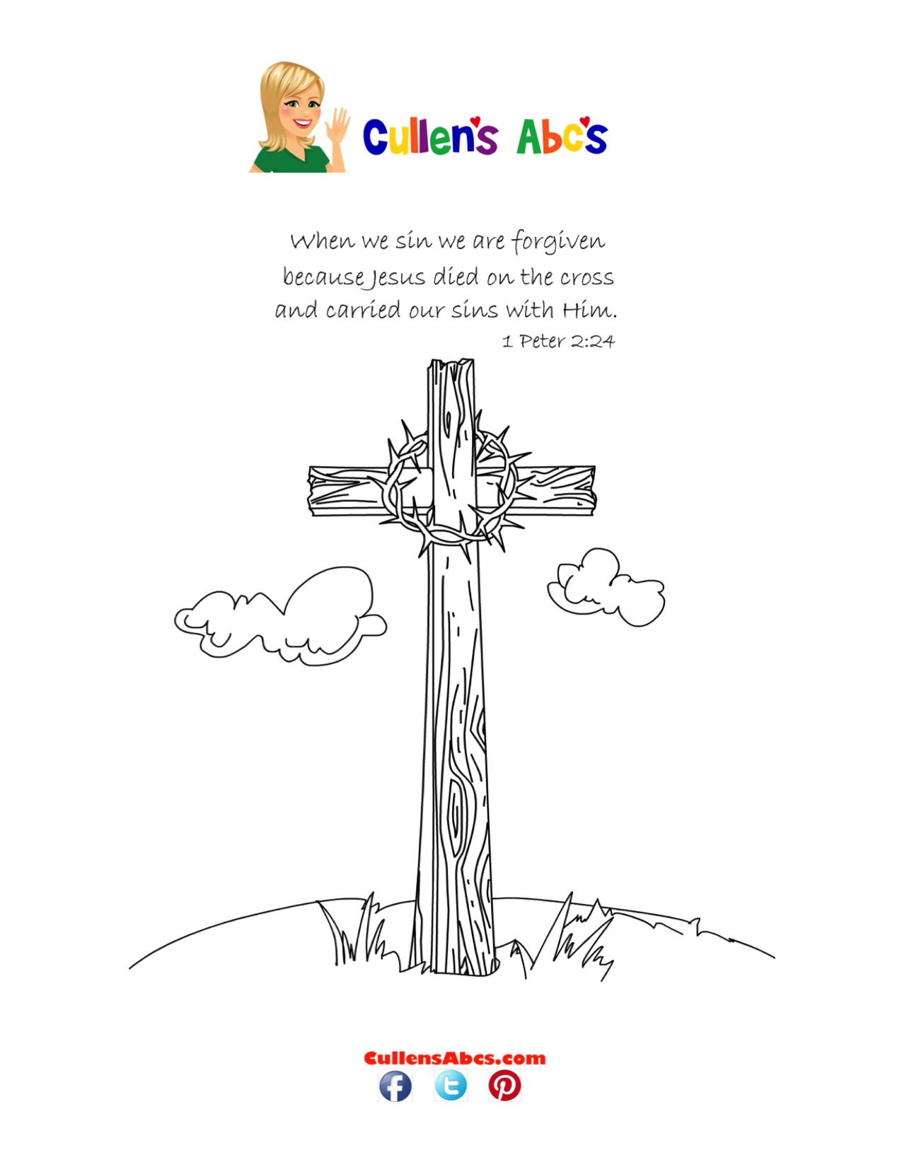 Bible Key Point Coloring Page | Jesus Is Arrested And Crucified