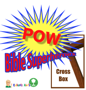 Bible Superheroes Cross Box