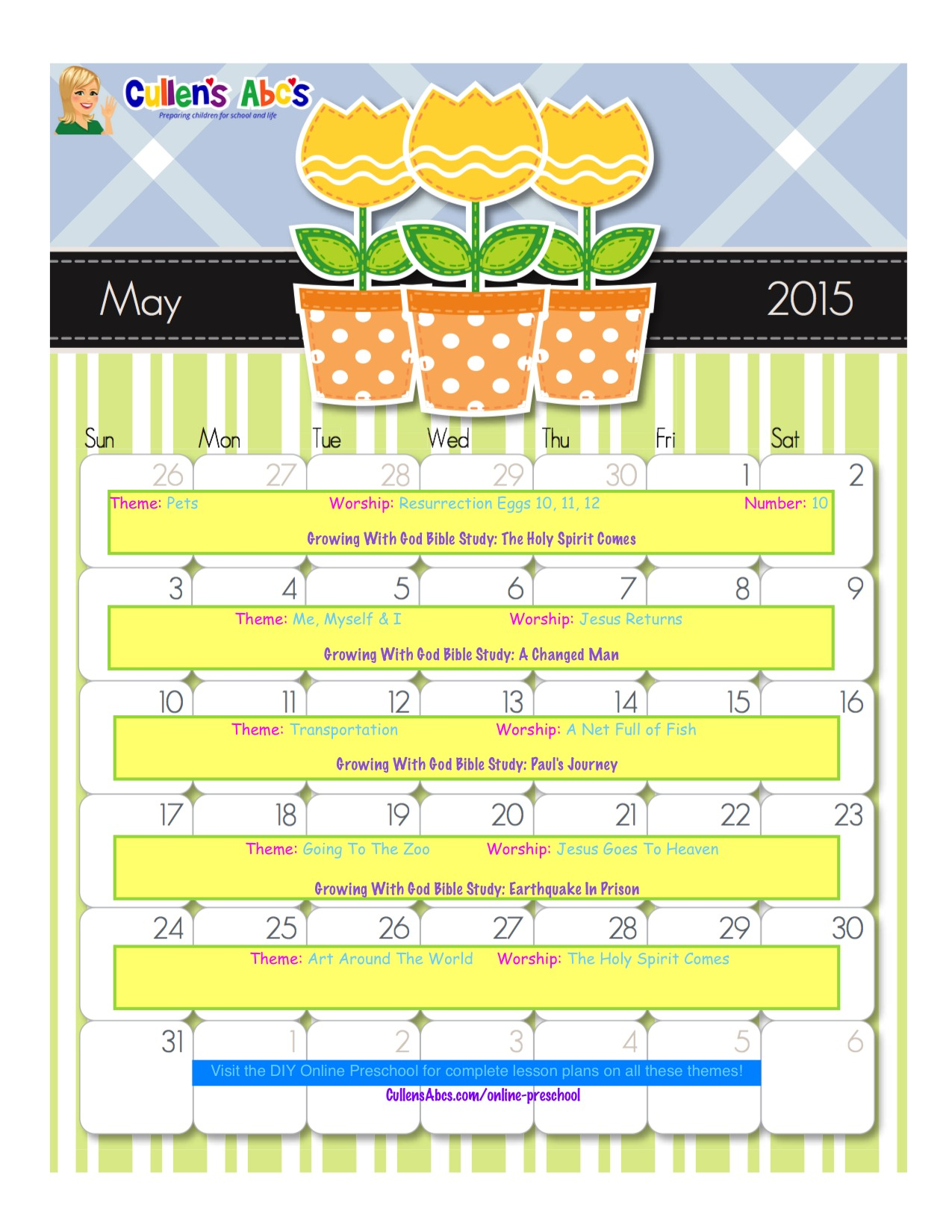 may online preschool calendar 2015