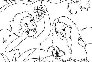 adam and eve coloring page 325x217jpg - Adam And Eve Coloring Page