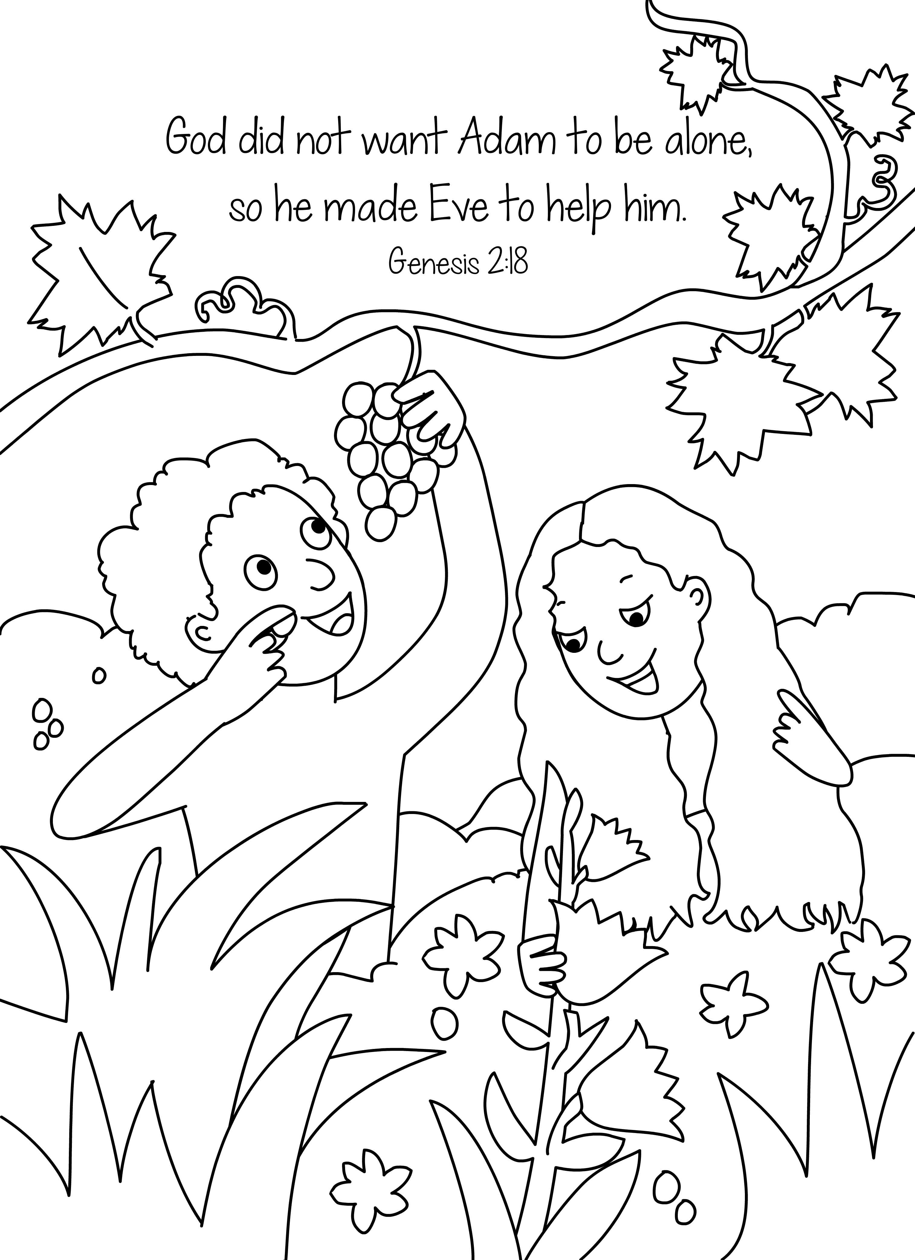 adam and eve coloring pages printable murderthestout