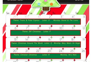 December Online Preschool Calendar 2015